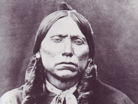 Native American or Palestinian, Awa, Inuit, Dayak or Bushman, the struggle against colonialism is one. Quanah Parker - Comanche. Photo from firstpeople.us.
