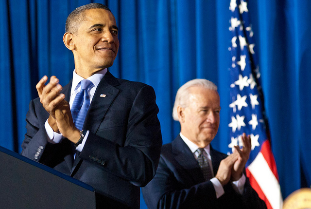 President Barack Obama with Vice President Joe Biden. Photo: Barack Obama via Flickr.com.