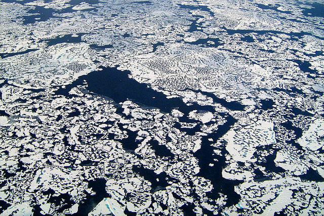 The fragile and rapidly changing Arctic is home to large reservoirs of methane, a potent greenhouse gas. Photo: NASA Earth Observatory.