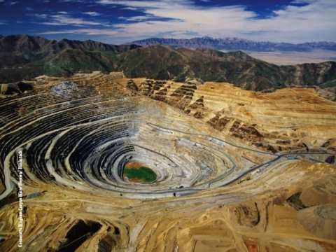 The Mirador mine in the Ecuadorian Amazon would be comparable in scale to the Kennecott open pit copper mine in Utah.