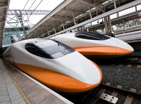 It looks like the future - but which way does the wealth travel? High speed trains in Taiwan. Photo: Ben via Flickr.