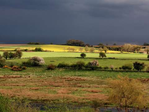 We can expect more of this: a thunderstorm rises over the Norfolk countryside. Photo: Nick Ford via Flickr.