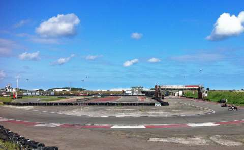 The solar scheme is planned for Ellough airfield, near this g-kart circuit and next to an industrial estate. Photo: Blue Square Thing via Flickr.