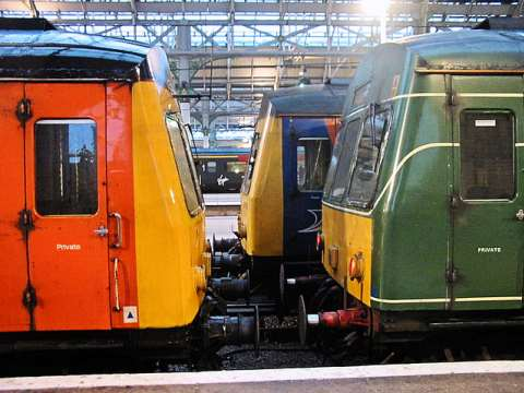 Could high speed railways transform the economy of England's ailing North? Photo: trains at Manchester Piccadilly station by Roger Marks.