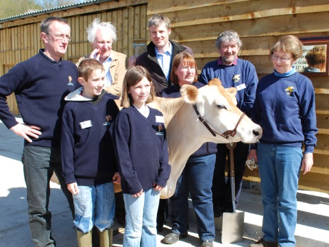 Zac Goldsmith opens the new milking parlour at Pierrepont Farm in Frensham, Surrey.