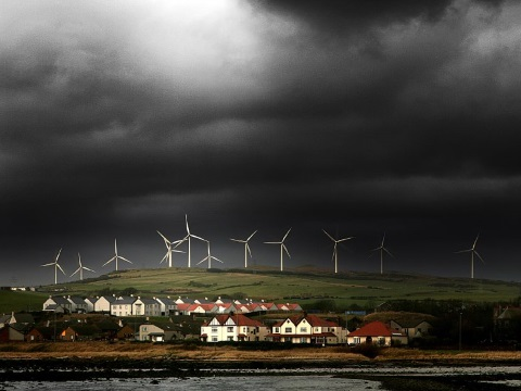 England needs Scotland's wind power to keep the lights on. Photo: wind farm at Ardrossan by Gordon Cowan via Flickr.