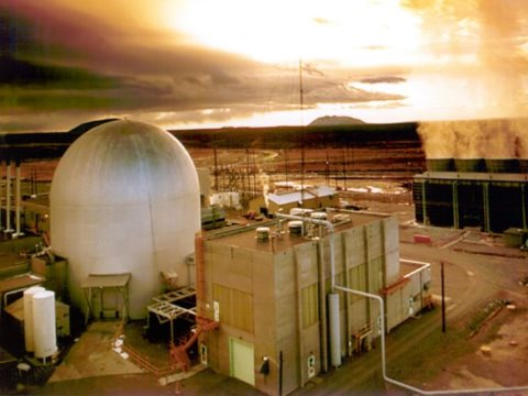 This 62.5 MW Experimental Breeder Reactor (EBR-II) at the Argonne National Laboratory (USA) was built in 1965 and closed in 1994 due to its abysmal economics and proliferation concerns. The design is the basis of the PRISM and Integral Fast Reactors being