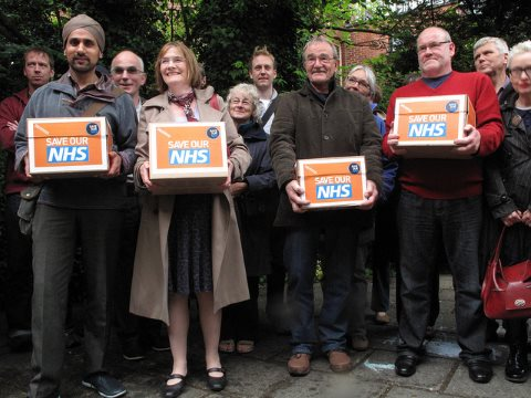 Would TTIP force the privatization of the NHS? No - but it could make it impossible to roll back any privatisation once it had taken place. Photo: 38 Degrees' members in Sheffield Hallam hand in a massive NHS petition to their MP, Nick Clegg. By 38 Degree