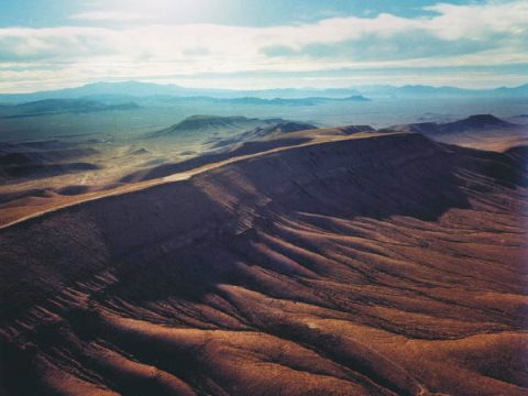 Yucca Mountain, the site of the US's 'cancelled' repository for high level nuclear waste. Photo: White House via Wikimedia Commons.