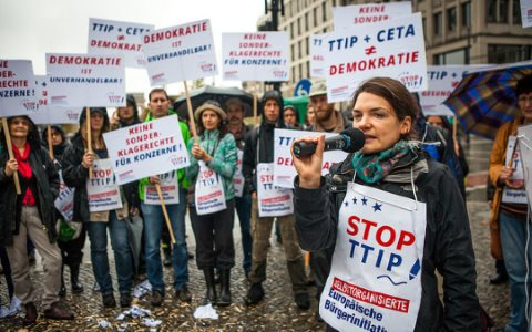 Stop TTIP demo in Berlin, October 2014. Photo: Jakob Huber / ECI via Stop TTIP! /  Flickr.