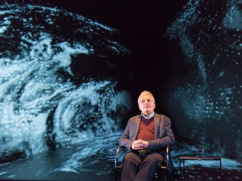 Chris Rapley in '2071' at the Royal Court Theatre. Photo: Stephen Cummiskey.