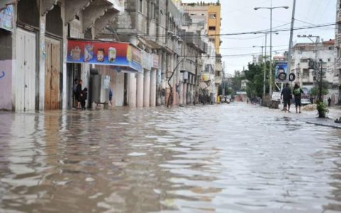 The United Nations Relief and Works Agency has declared an Emergency in Gaza City, following extreme weather and severe flooding. Photo: UNWRA.