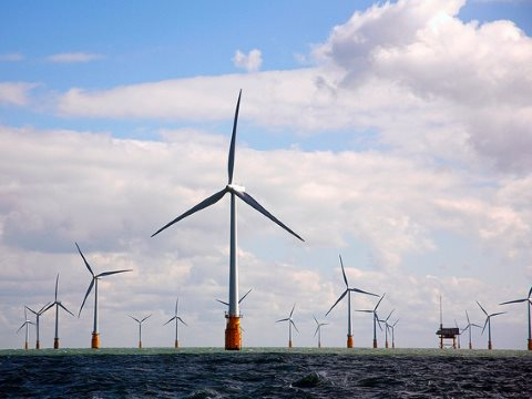 In September 2010 Vattenfall opened Thanet Offshore Wind Farm, off England's south east coast - the largest in the world. Photo: Nuon via Flickr.
