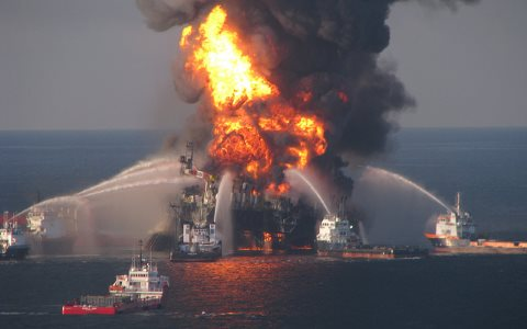 There is now no atmospheric space for any new 'extreme energy' to be developed. The Deepwater Horizon Fire, 21st April 2010. Photo: EPI2oh via Flickr, CC BY-ND 2.0.