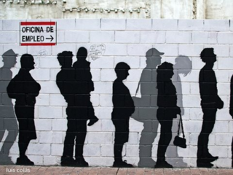 'Unemployment Wall' at Calle San Pablo, Zaragoza, Spain. Photo: Luis Colás via Flickr (CC BY-NC-ND 2.0).