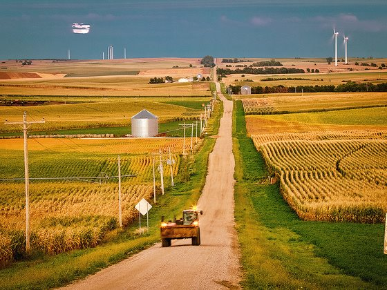 Nebraska landscape with wind turbines. Photo: Rich via Flickr (CC BY-NC 2.0).