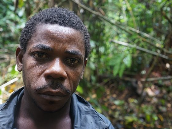 'They beat us at the WWF base. I nearly died.' Baka 'Pygmy', Cameroon. Photo: Survival International.