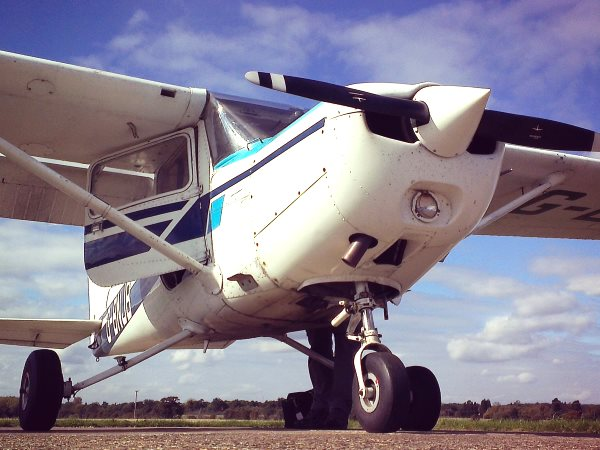 One of the single-engine Cessnas used by the Wildlife Air Service for their marine patrols with The Black Fish. Photo: Marine Air Service.