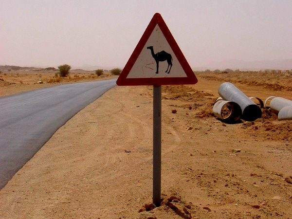 Remains of a pipeline installation on a roadside near Ain Salah, in Algeria's Tamanrasset province. Photo: Thomas via Flickr (CC BY-NC-SA 2.0).