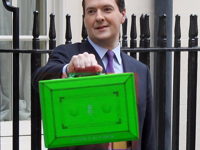An annual 'natural resource budget' complete with green box? Why ever not! Photo: HM Treasury via Flickr as partially colour-adjusted by TE (CC BY-NC-ND).