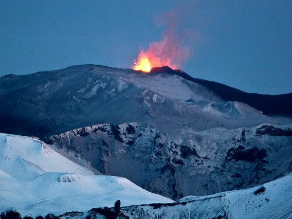 The mass extinction that closed the Triassic period was marked by massive CO2 emissions from volcanoes - like the 2010 eruption of Eyjafjallajökull, Iceland. Photo: Óli Jón via Flickr (CC BY-NC-ND).
