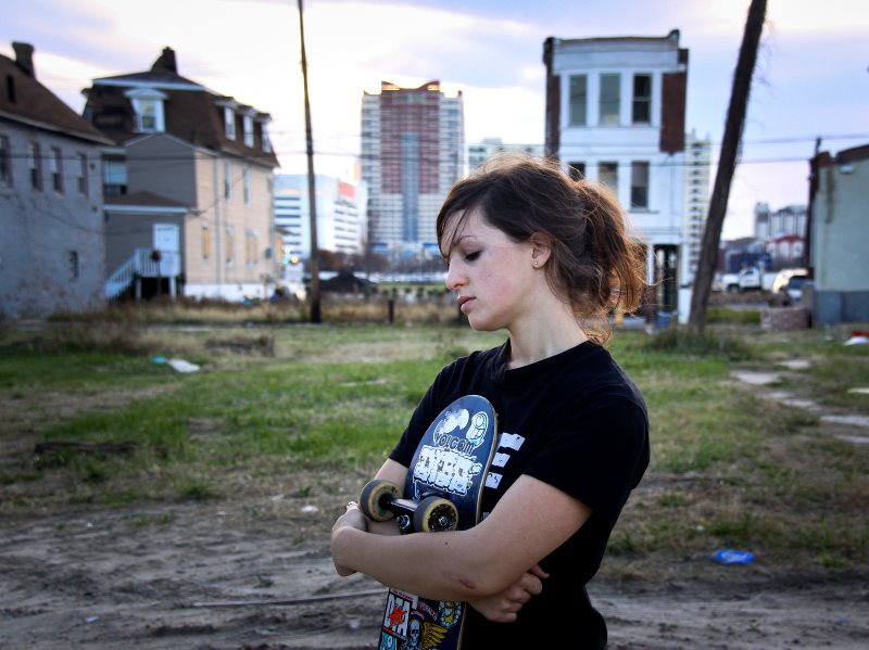 Skater girl portrait (Abigail Tarttelin, author of 'Golden Boy'), Atlantic City, NJ. Photo: Chris Goldberg via Flickr (CC BY-NC).