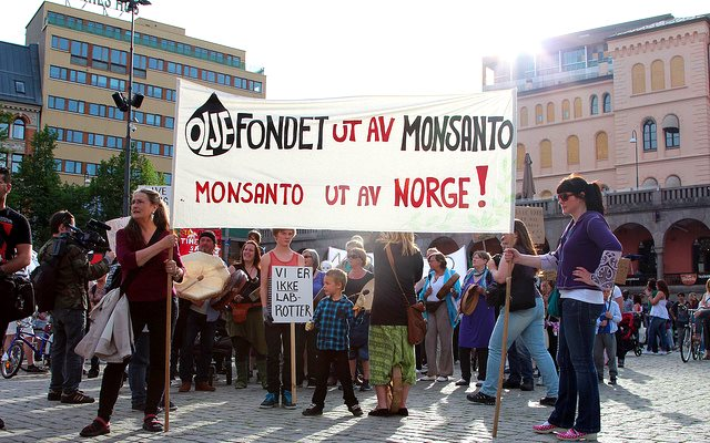 Now these Norwegian protestors against Monsanto are more likely to get their way, following the GMO 'national opt-out' proposals set out by EuroComm. Photo: Caroline Hargreaves via Flickr (CC BY-SA).