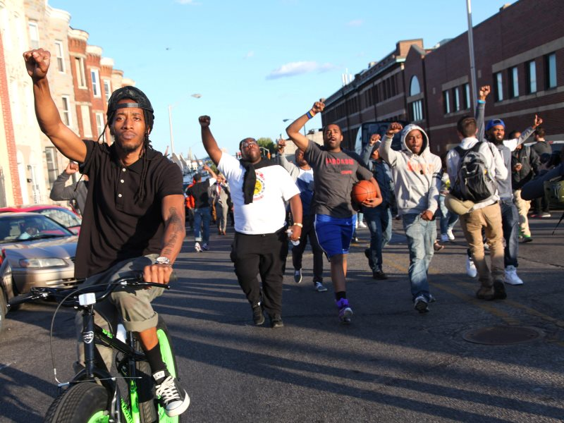 Protest in Baltimore, 29th April 2015. Photo: Arash Azizzada via Flickr (CC BY-NC).