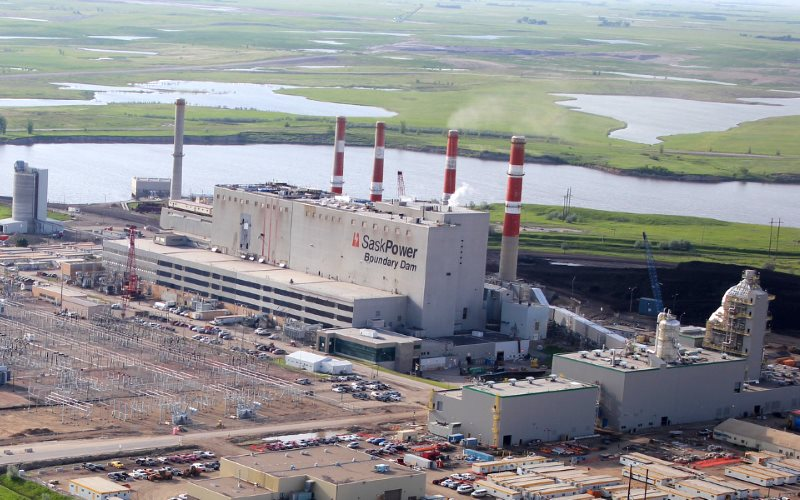 Unit 3 of the Boundary Dam Power Station in Estevan, Saskatchewan, has been converted for post-combustion CCS, producing over 1 million tonnes of CO2 per year - pipelined to oil fields in the south of the province to increase recovery. Photo: SaskPower vi