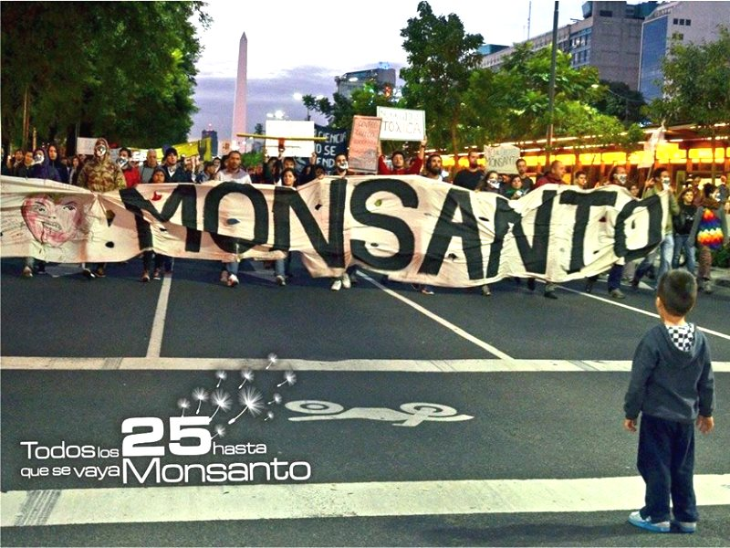 March Against Monsanto 2015 in Buenos Aires, Argentina, probably the single country most adversely impacted by Monsanto's mission for world domination. Photo: March Against Monsanto via Facebook.