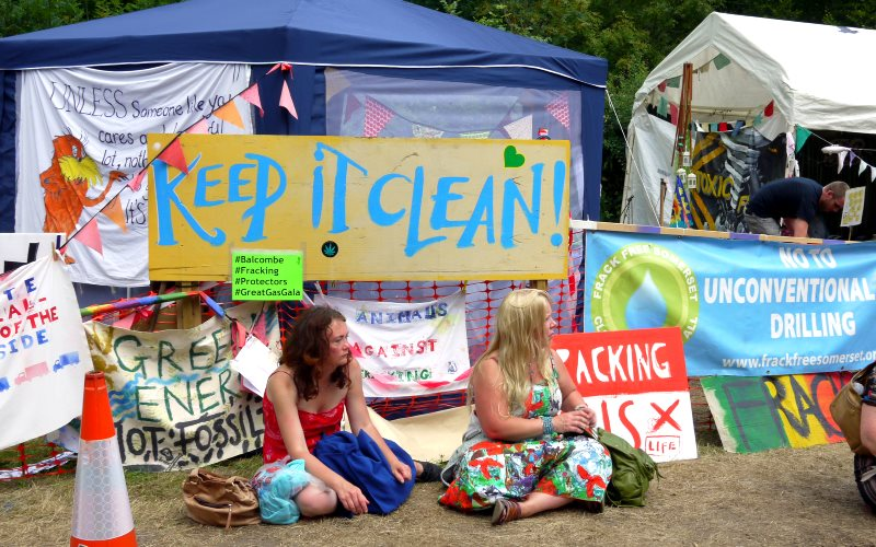 Disregarded: anti-fracking campaigners at Cuadrilla drilling site at Balcombe, West Sussex, August 2013. Photo: Sheila via Flickr (CC BY-NC).