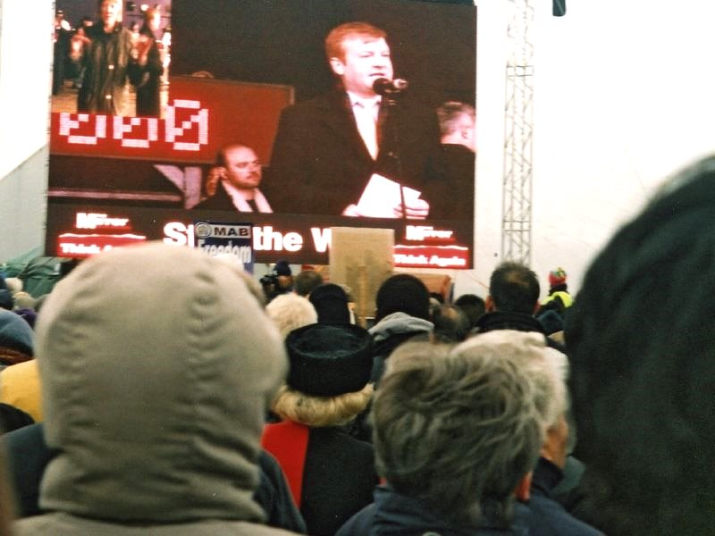 It was Charles Kennedy's greatest political moment - but one he desperately tried to avoid. Never again did he address any public rally against the Iraq war. Photo of the anti-Iraq war march in London, 13th February 2003 by Ben Sutherland via Flickr (CC B