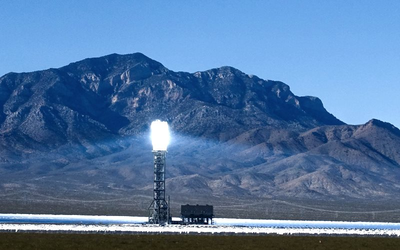 The future is solar! Ivanpah Solar Power Plant in California's Mojave desert. Photo: Gregg Tavares via Flickr (CC BY).