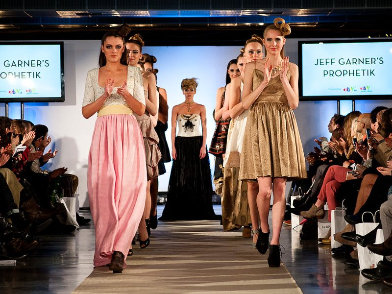 Prophetik by Jeff Garner on display at Eco Fashion Week 2012 in Vancouver, April 2012. Photo: Jason Hargrove via Flickr (CC BY-NC-ND).