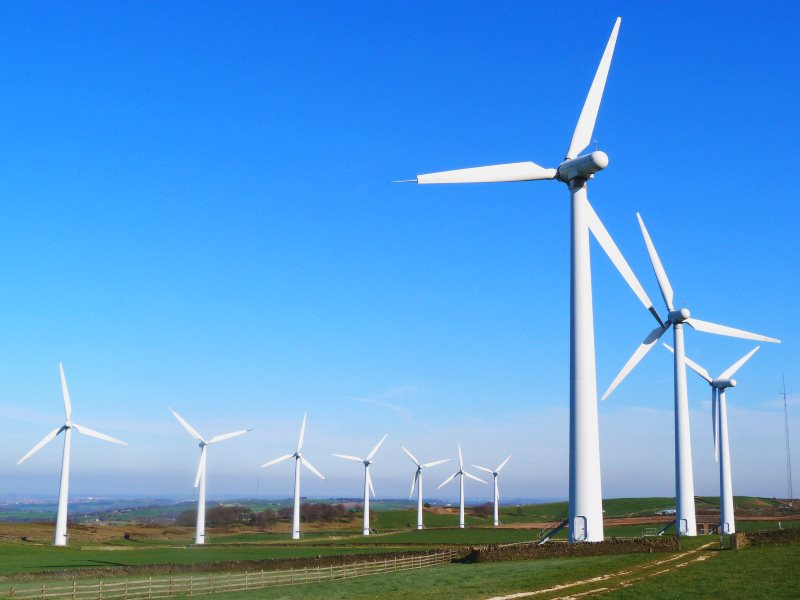 Royd Moor wind farm in Yorkshire. Photo: steve p2008 via Flick (CC BY).