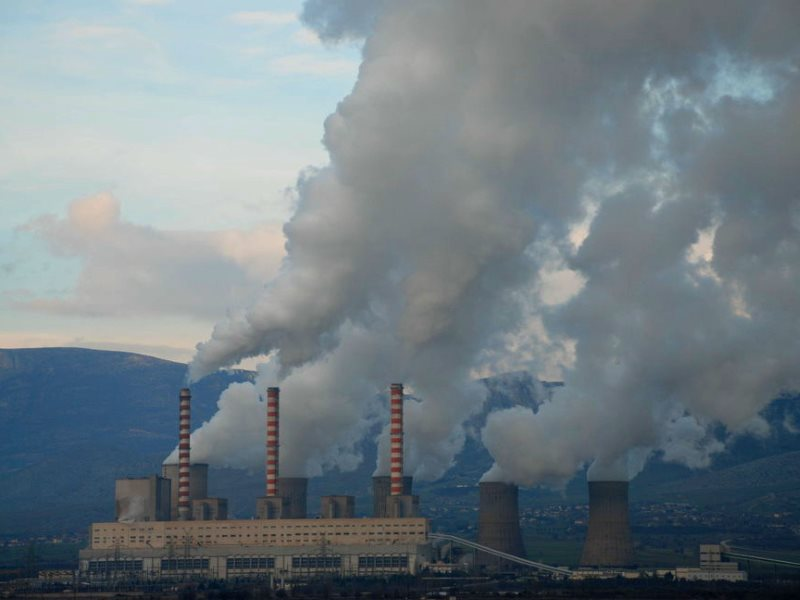 A lignite-burning power station in Greece. Photo: Greenpeace-Greece.