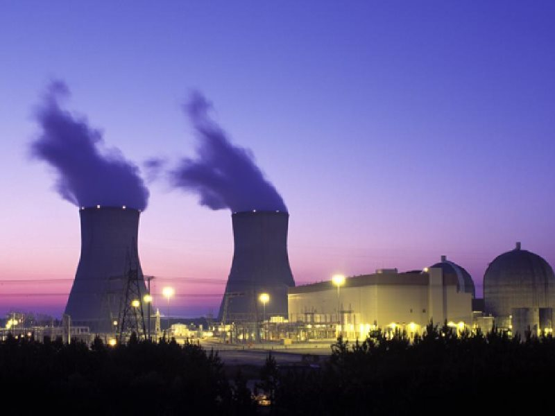 The Vogtle nuclear plant in Georgia, where two AP1000 reactors are under construction, and subject to long delays and cost overruns. Photo: Nuclear Regulatory Commission via Wikimedia Commons (Public Domain).