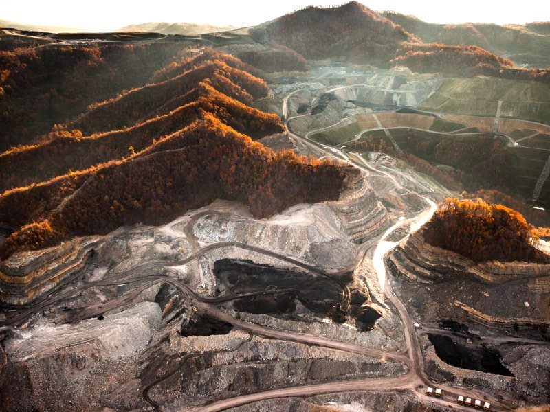 Mountaintop removal mining impacts on Blair Mountain, West Virginia, USA. Photo courtesy of Paul Corbit Brown.