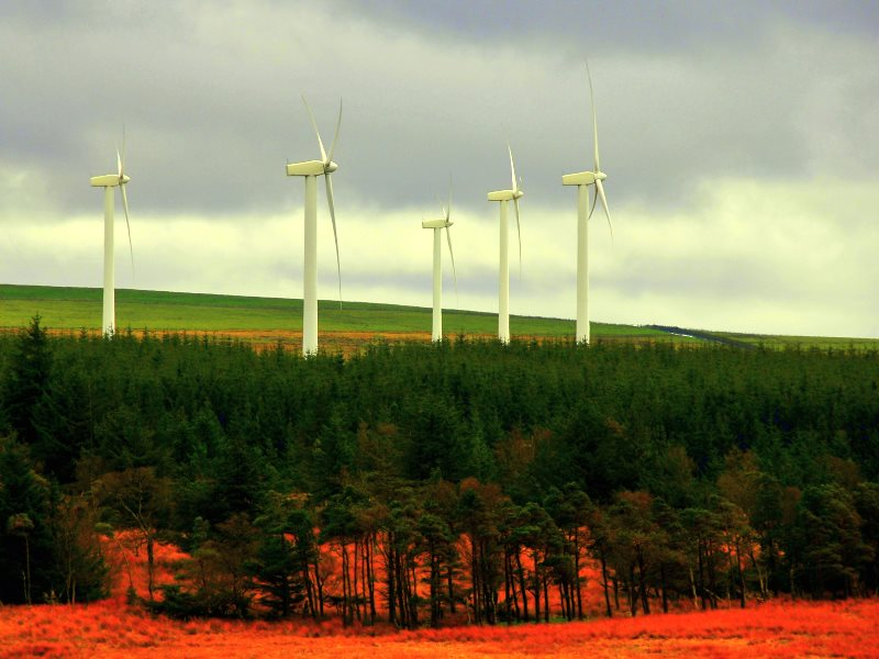 Labour must make green the new red. Wind Farm near Oxton, Scottish Borders. Photo: raghavvidya via Flickr (CC BY-NC-ND).