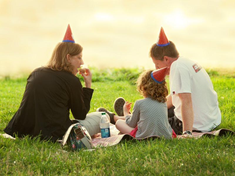 Work - who needs it? Photo: a family celebration by the Potomac by Bill Dickinson via Flickr (CC BY-NC-ND).