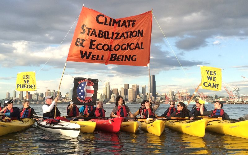 Yes we did! Shell no Kayak Flotilla climate stabilization demo in April 2015. Photo: Backbone Campaign via Flickr (CC BY).