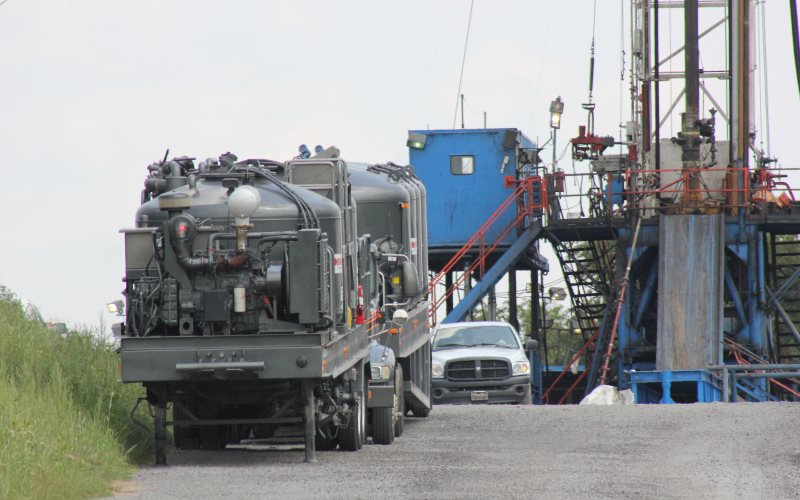 For a problem-free pregnancy, don't live near here. Marcellus Shale rig and gas well operation on Ridge Road in Jackson Township, PA, operated by Rex Energy. Photo: WCN 24/7 via Flickr (CC BY-NC).