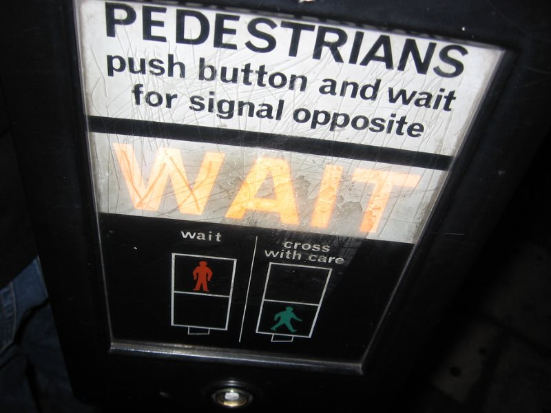 Some pedestrians are getting tired of waiting ... Photo:  Samu Lang via Flickr (CC BY-NC-SA).