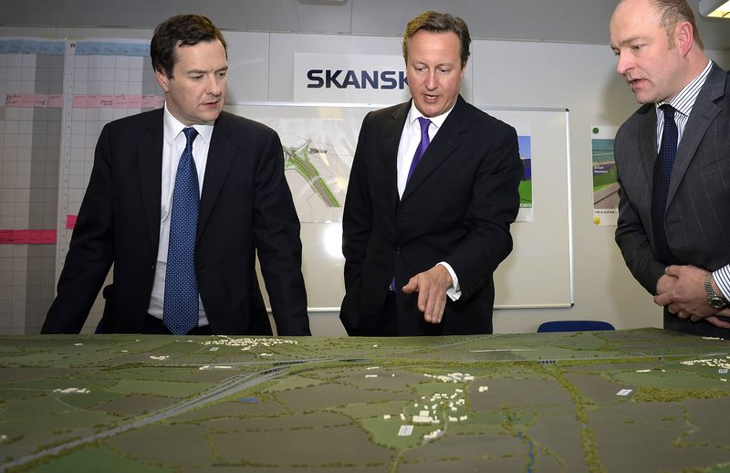 Prime Minister David Cameron, Chancellor George Osborne map out their planned destruction of the UK renewable energy industry. Photo: Number 10 via Fliclr (CC BY-NC-ND).