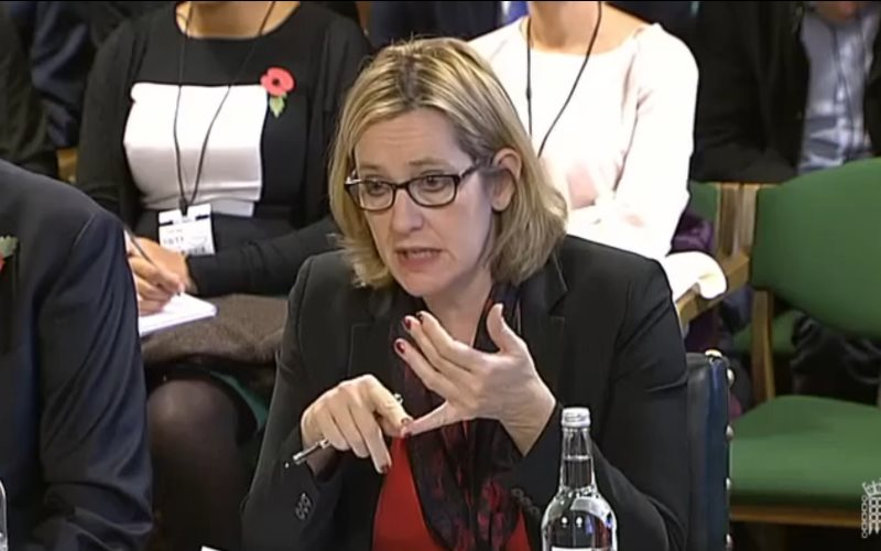 Energy Secretary Amber Radd fielding questions in the Energy and Climate Change Committee today, 10th November 2015. Photo: still from parliamentlive.tv.