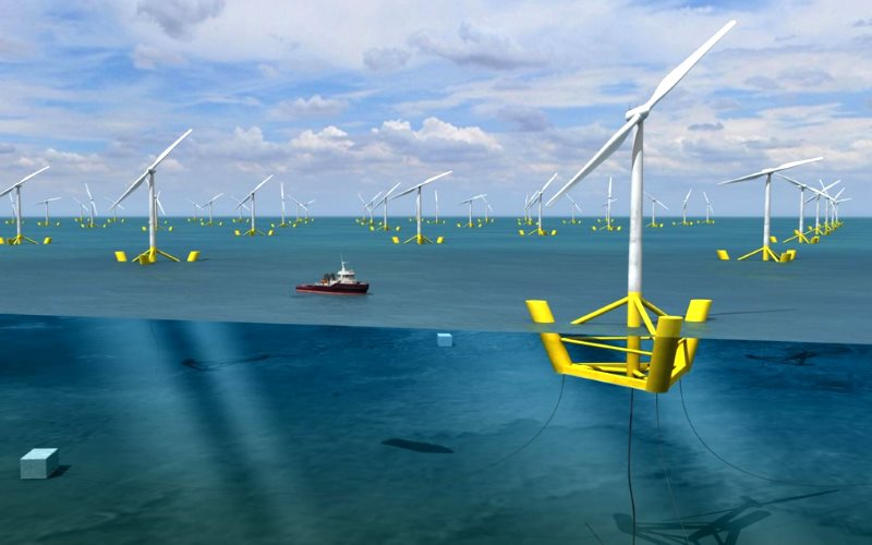 DCNS and Nass&Wind designed this 'Winflo' floating wind turbine.