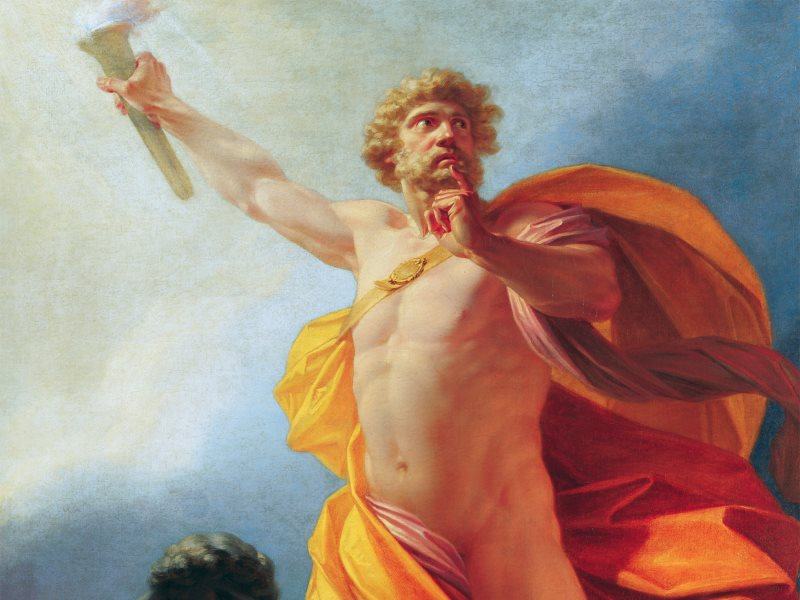 'Whom the Gods would destroy, they first make mad.' Prometheus Brings Fire by Heinrich Friedrich Füger.