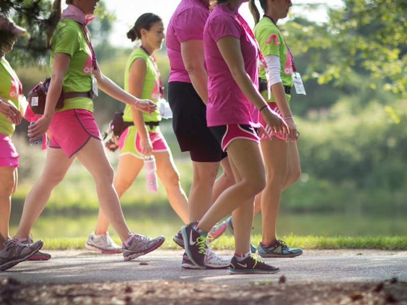 If glyphosate was no longer being chucked around into food and environment, would there be fewer cases of cancer? Walkers gear up and take on Day 1 for breast cancer awareness, August 2013. Photo: Susan G. Komen via Flickr (CC BY-NC-ND).
