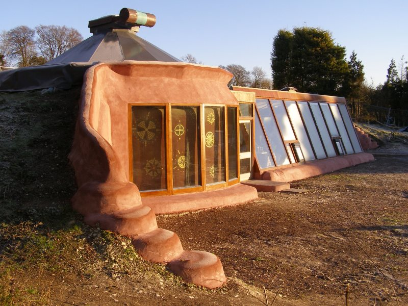 View of the west side of the Brighton Earthship. Photo: Mischa Hewitt.