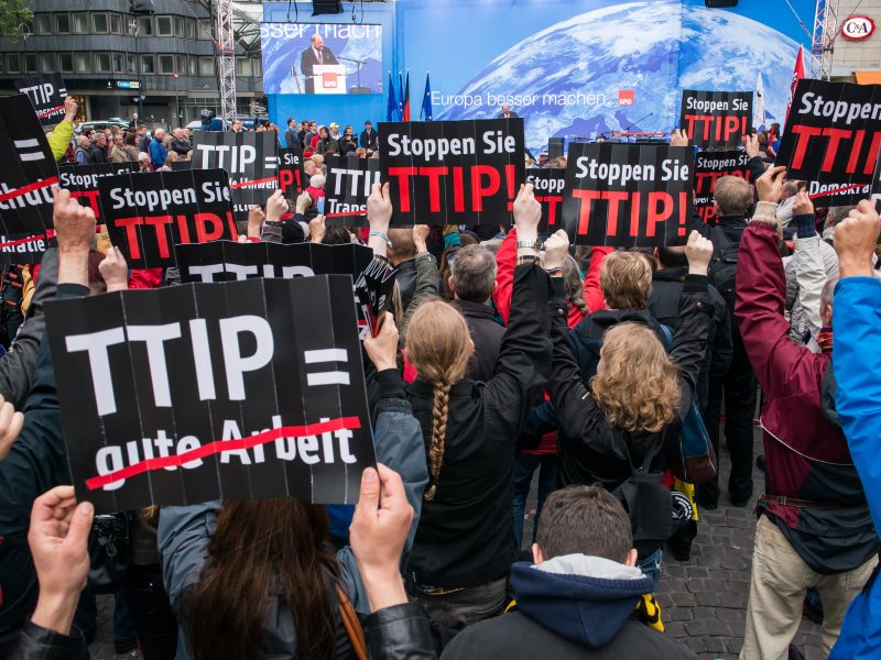 In Germany, it's not just flashmob protestors opposing TTIP. The German Judges Association is in on the act now too. Photo: campact vius Flickr (CC BY-NC-SA).